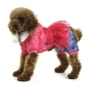 China Bear printing winter pet clothes with Yarn fabrics Decorative - Rose for sale