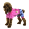 China Stripes Crystal velvet winter pet clothing with petals decorated - Rose for sale