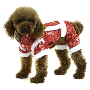 China Chinese Tang Costume winter dog clothes - Red on sale