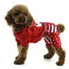 China Fashion embroidered four-legged Christmas Dog clothing for sale