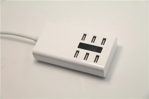 China Fast charging hub, power charging hub 6 port, battery powered usb hub on sale
