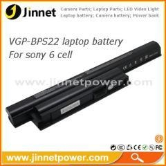 China Hot selling 6 Cells notebook battery for sony BPS22 VGP-BPS22 VGP-BPS22A on sale