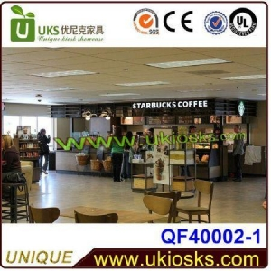 China new design coffee kiosk design,coffee shop furniture,coffee food counter for sale on sale