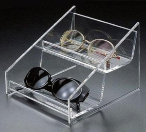 China Two layers acrylic sunglass display tray on sale