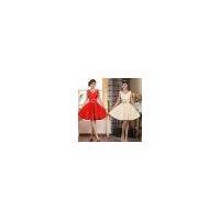 Red Short Bridesmaid Dresses, Shoulders Dress