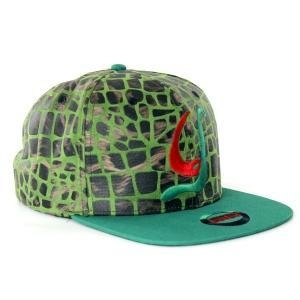 China Acrylic and printed snakeskin leather strapback on sale