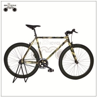 China 700c 50mm alloy rim triple wall colorful frame fixed gear cycle on sale