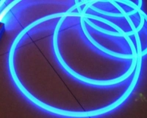 China Plastic side glow light optic fibre cable on sale