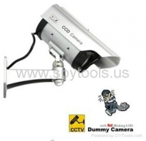 China Fake Dummy Solar Powered Security CCD Camera with Red Blinking LED on sale