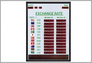 China LED Bank Exchange Rate Display on sale