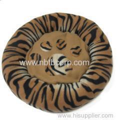 China leopard printed plain & polar fabric pet bed mat on sale