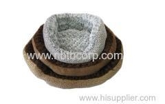 China soft pet bed for dogs wholesale,luxury pet bed for dog made by taped short fleece on sale