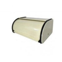 China Bread Bin Powder Coated Enamelware Vintage Style Metal on sale