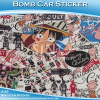 A-28 Printing PVC Vinyl Car Bomb Stickers