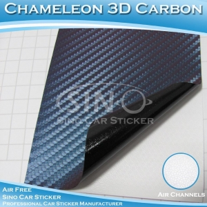 China Chameleon Steelblue Auto Wrap Carbon Fiber Sticker on sale