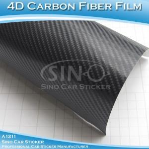 China Super Glossy Grey 4D Carbon Fiber Car Vinyl Film on sale