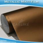 CARLIKE CL5509 Chrome Metallic Matte Brown Vinyl Film For Car