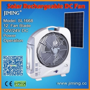 China Solar Rechargeable Fan with 2x6W Tubes on sale