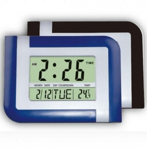 China Big LCD display wall clock HF-5887 on sale