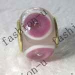 China silver core lampwork glass beads on sale