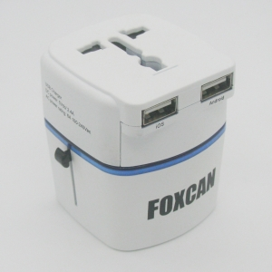China Universal Travel adaptor with USB Charger on sale