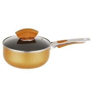 China Aluminum non-stick saucepan with glass lid, 5203 on sale