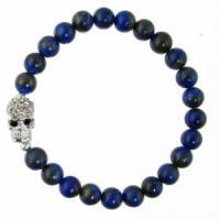 Lapis Lazuli Skull Bracelet