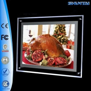 China Factory direct picture crystal panel led acrylic menu display on sale