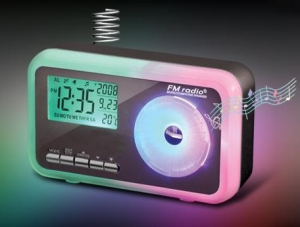 China FM Radio ,USB Computer Spealer,Alarm Clock with Color-changing Light on sale