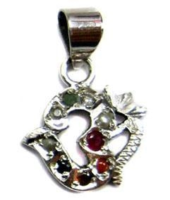 China Religious OM Navratan Pendant Navratan-402 on sale