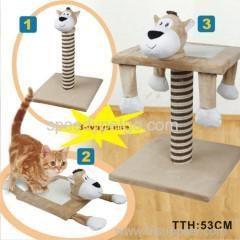 China Whole sale Cat tree with animal shape head on sale