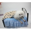 China Cute Pet Dog Blanket Paw Prints Soft Pet Mat Bed for sale
