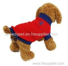 China Pet dog bright in colour sweater supplier
