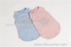China Fashion Skull Logo Dog T-shirt Pet Cotton Clothes on sale