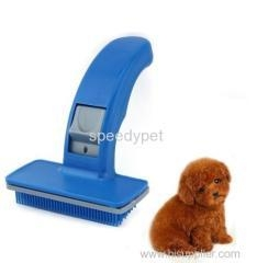 China Lovely Pet Dog Cat Fur Hair Grooming Brush Self Quick Clean Comb Dog Hair Shedding Hair Tool on sale