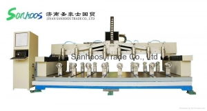 China Sam Cylinder Wood Engraver Rotary CNC Caving Router Machine on sale