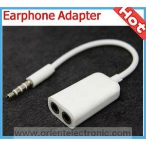 China 3.5mm 1 to 2 stereo earphone splitter adapter on sale