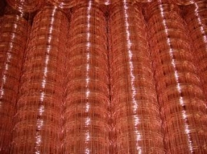 China Copper Coated Welded Wire Mesh on sale