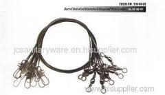 China Wire leader with Barrel Swivel with Inter lock Snap on sale