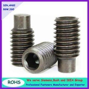 China stainless steel hex socket extended point set screws on sale