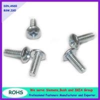 Binding head phillips machine screws with blue zinc plated