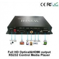 RS232 Control HDMI Streaming Media Player Box / Media Player With Optical Out