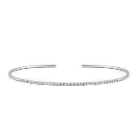 China Cuff Bangle in White Gold and Diamond on sale