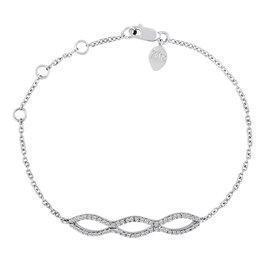 China Triple Loop Diamond Bar Bracelet on sale