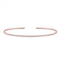 Rose Gold Diamond Cuff Bracelet
