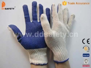 China Knitted with PVC glove-DKP145 on sale