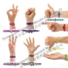 China SW-124 Silicone hollow wristband for sale