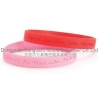 China SW-110 Embossed silicone bracelet for sale