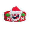 China SW-118 Santa Claus shaped silicone bracelet for sale