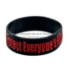 China SW-111 Color filled silicone bracelet for sale
